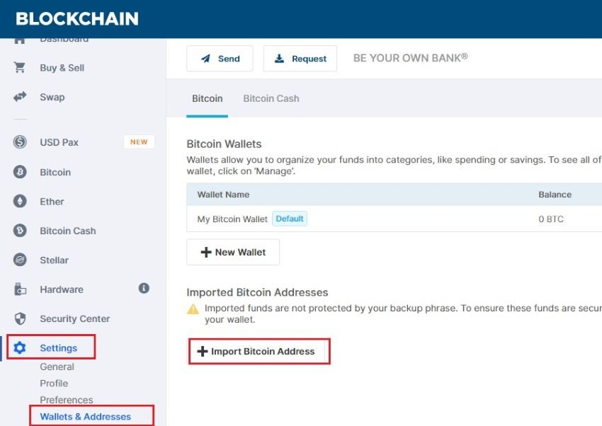 how to transfer bitcoins from paper wallet