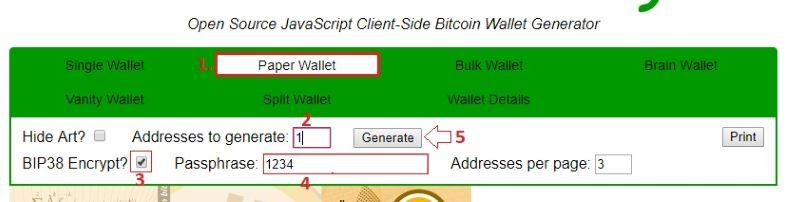 how to make a paper wallet bitcoin
