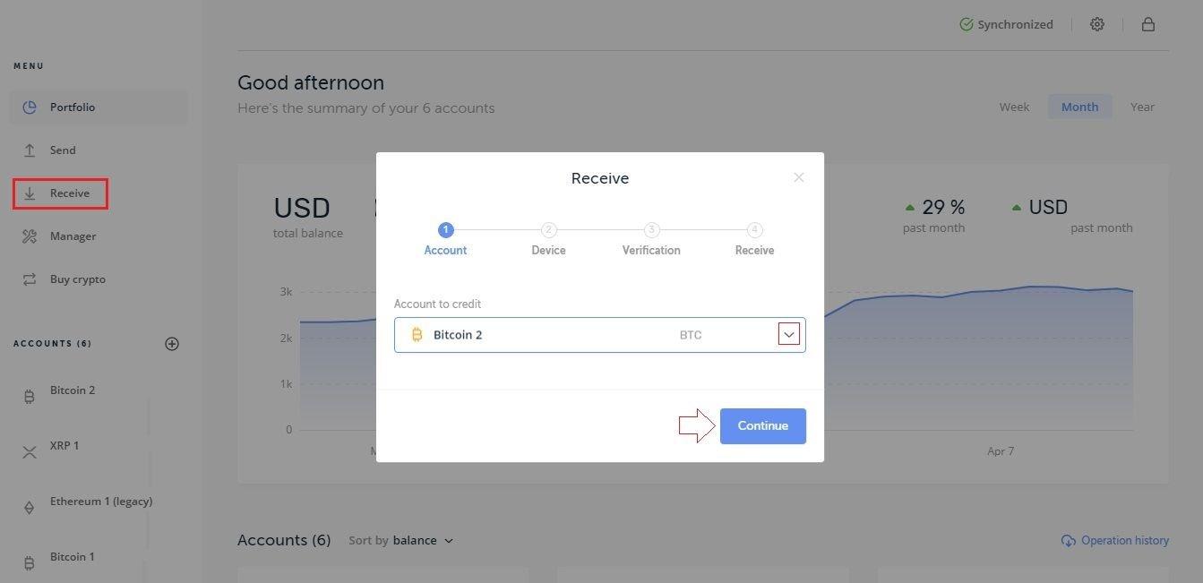 send bitcoin from coinbase to ledger nano s