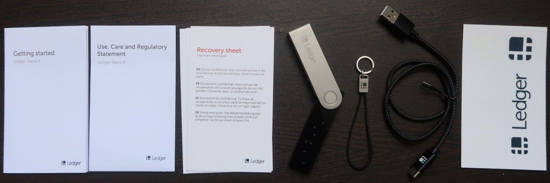 What's inside the Ledger Nano X box