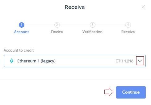 ethereum to ledger transfer